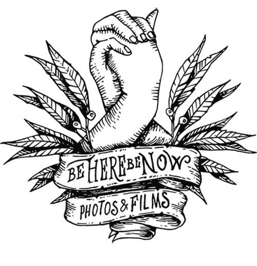 Be Here Be Now logo - black